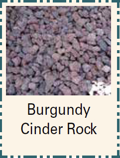 Burgundy Cinder Rock - Bulk Material