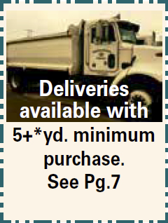Deliveries Available 5+ yd Minimum Purchase - Bulk Material